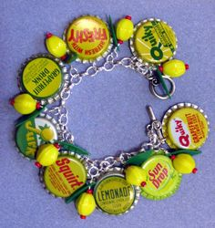 Vintage bottle cap bracelet