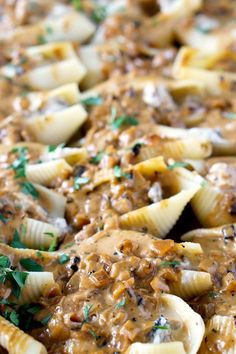 Chicken Marsala Stuffed Shells with Creamy Marsala Sauce--Part of The Best Pull Stuffed Shells Recipes Recipe For Chicken Stuffed Shells, Mexican Stuffed Shells, Ricotta Stuffed Chicken, Stuffed Pasta Shells, Chicken Recipes, Best Stuffing Recipe, Stuffing Recipes, Potluck Recipes, Cooking Recipes
