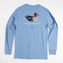 Southern Marsh Authentic Heritage North Carolina L/S Tee - Blue