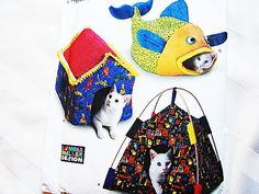 Simplicity Cat Bed Sewing Pattern Uncut 3 Styles Cozy House Fish Tent Cat Pet…