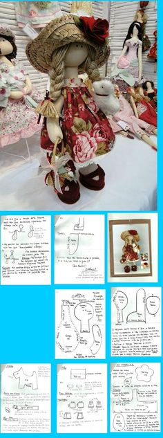 Doll Pattern to make ELSA Doll! by nicole Doll Sewing Patterns, Sewing Dolls, Doll Clothes Patterns, Doll Crafts, Diy Doll, Homemade Dolls, Fabric Toys, Doll Tutorial, Waldorf Dolls