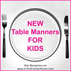 New #manners for kids by @LetMeStartBySaying on @In The Powder Room #etiquette