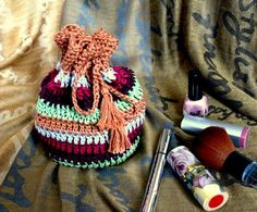 Сosmetic bag handbag bag crochet handmadehandbag by MyKnitWorld