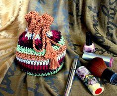 Сosmetic bag handbag bag crochet handmadehandbag от MyKnitWorld