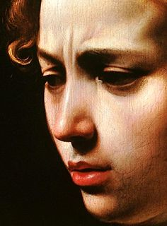 Detail from Caravaggio's Judith Beheading Holofernes