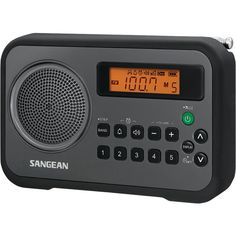 Sangean Am And Fm Digital Portable Receiver With Alarm Clock (black)