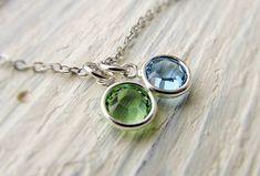 Grandma Birthstone Necklace Grandmother Jewelry by IrinSkye, $15.00