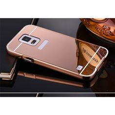 Mirror Case For Samsung Galaxy S3 S4 S5 mini S6 S7 edge G530 A3 A5 A7 A8 J3 J5 J7 2016 Prime Metal Frame Aluminum +PC Back Cover