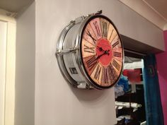 upcycled snare drum clock, i love this, pity it's sold! we can make more!!!