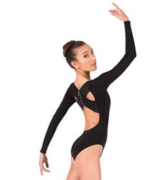 Long Sleeve X-Back Leotard - Style No LS133
