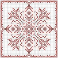 Illustration of Scandinavian style cross stitch pattern. Traditional biscornu design - geometric redwork ornament for embroidery. Perfect for Christmas design. vector art, clipart and stock vectors. Biscornu Cross Stitch, Cross Stitch Borders, Cross Stitch Designs, Cross Stitching, Cross Stitch Embroidery, Cross Stitch Patterns, Scandinavian Pattern, Scandinavian Style, Christmas Embroidery