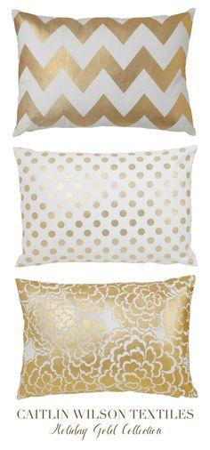 caitlin wilson design: Gold Pillows!