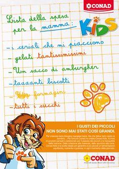 Conad Kids; Creatività della ABC, digital division: http://we-b.it