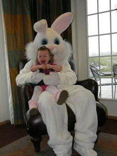 kid scared of easter bunny