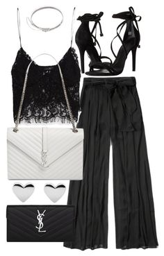 """""""Untitled #19780"""" by florencia95 ❤ liked on Polyvore featuring Abercrombie & Fitch, Zara, Yves Saint Laurent, Schutz and Eddie Borgo"""