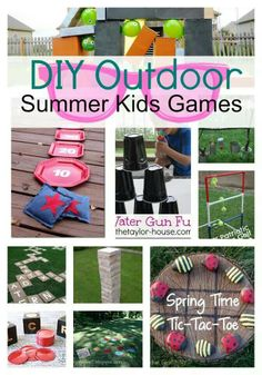 Great ideas for planned activities outside!