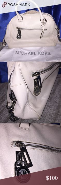NWOT Ivory Soft Leather Michael Kors Fashion Bag NWOT, never used and always stored in preservation bag only because last year I got two MK bags in Ivory and I chose to use the hard leather one more. Excellent condition.  Looks like retail price was $328.  Still smells new. Michael Kors Bags Shoulder Bags