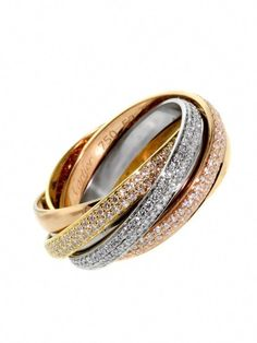 Stainless Steel Gold Color Plated Matte Finished Spiral Oval Fancy Ring