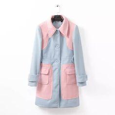 Women windbreaker, coat, Clothing, Women, Women windbreaker, coat, New in long-sleeved double lapel coat ghl2972, new, clearance outerwear