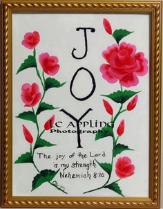 """ORIGINAL CANVAS 12"""" X 16"""" Joy of the Lord is my strength by LCApplingPhotoArt on Etsy"""