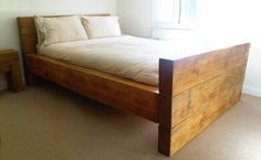 Seriously Chunky & Rustic Wooden Handmade Sleeper Bed