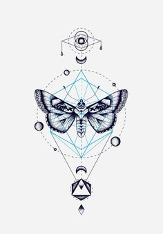 MOTH GEOMETRIC TOTEM / Sacred Geometry <3: