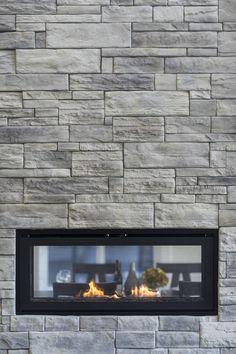 Fireplace done with Kenya Moorecrest by Rinox Manufactured Stone, Luxury Vinyl, Vinyl Flooring, Urban Design, Cabana, British Columbia, Fireplaces, Kenya, Vancouver