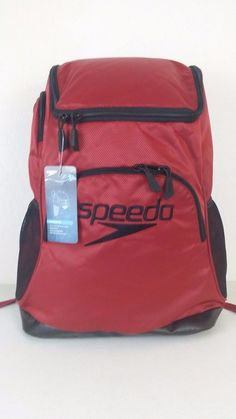 "NWT SPEEDO QUANTUM Backpack 35L Red/Black Sport Gym 15"" Padded Laptop Sleeve #Speedo #Backpack #ebay #Speedo #Backpack"
