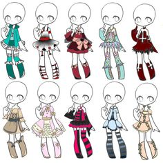 Outfit Adopts 31 *Closed* by Canaddicted.deviantart.com on @DeviantArt