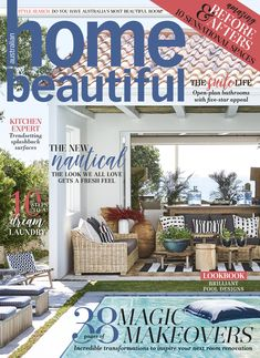 Australian Home Beautiful - November 2018 Open Plan Bathrooms, Signs Guys Like You, New Surface, Life Kitchen, Suite Life, Beautiful Cover, Australian Homes, Splashback, Pool Designs