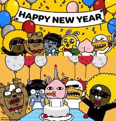 Friends Gif, Line Friends, Cartoon Design, Cartoon Images, Kakao Friends, Friends Wallpaper, Japanese Characters, Web Design, Wallpaper Iphone Cute