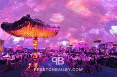 Gold and Purple Fantasy Decor on Preston Bailey's Event Ideas
