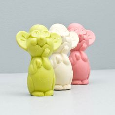 """vintage Avon """"Three Blind Mice"""" soap bars. I remember these."""