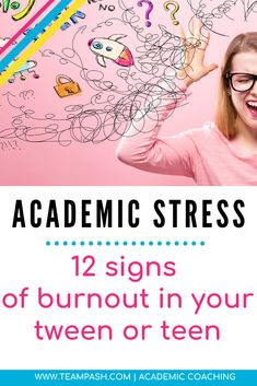 Stress at school can lead to burnout in teenagers in any grade or at any ability. How can we recognize burnout in your child and help them regain their footing at school? Tips from Academic Coach, Marni Pasch School Planner, School Schedule, School Tips, Note Taking Strategies, Note Taking Tips, College Search, Study Skills, Study Tips, Parenting Teenagers