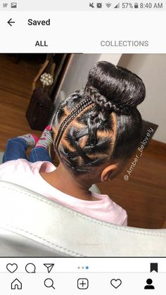 Little Girl Hairstyles Lil Girl Hairstyles, Black Kids Hairstyles, Kids Braided Hairstyles, Natural Hairstyles For Kids, Natural Hair Styles, Short Hair Styles, Medium Hairstyles, Trendy Hairstyles, Childrens Hairstyles