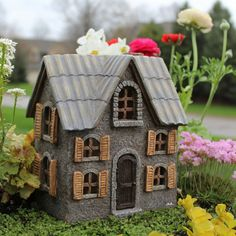 Cottonwood Manor. www.teeliesfairygarden.com  . . . Visiting fairies would be glad to stay in this lovely cottonwood manor! It is so cozy that they might be convinced to stay! #fairyhouse