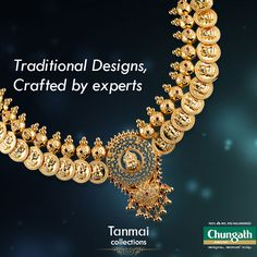 Exquisitely crafted traditional designs. Shop from our large range of beautiful ethnic Jewellery collection  Shop now : https://www.chungathjewellery.com/gold/necklace/thanmay