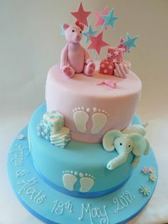 Christening Cake for Girl and Boy - Clifton Cakes