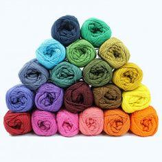 Garnpakke - Cotton - Temperature Blanket - 20 farver from Mayflower Tunisian Crochet, Knit Or Crochet, Crochet Hooks, Crochet Needles, Knitting Needles, Crochet Stitches, Half Double Crochet, Single Crochet, Knitting Projects