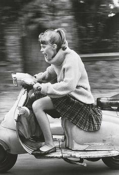 Jean-François Jonvelle 'Woman Riding Scooter' 1984