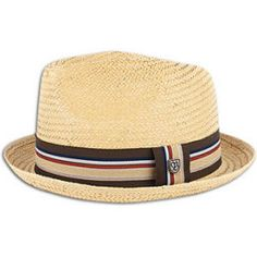 Sun protection with style when you wear this Brixton men's Castor fedora in tan straw. #hats