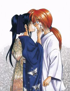 I love that look on Kenshin's face. XD I think that's what makes this picture so good. I mean, the art is good, but that is just so like Kenshin... :D It really captures the characters very well.