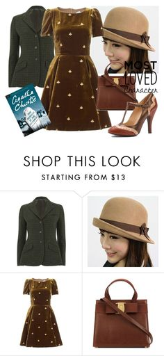 """""""Miss Marple"""" by bellatrix87 ❤ liked on Polyvore featuring Polo Ralph Lauren, Hats 'n' Tales, VIVETTA and Mojo Moxy"""