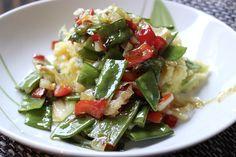 Das ist wieder genau meins: Bärlauch-Risotto mit gebratenem Gemüse bei Johanna! Einfach nur lecker!