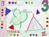 Waldorf ~ 1st grade ~ Math ~ Quality of Numbers: Three ~ main lesson book
