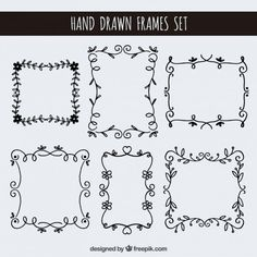 Frames Vectors, Photos and PSD files Bullet Journal Art, Book Journal, Drawing Frames, Lettering Tutorial, Doodle Designs, Chalkboard Art, Arabesque, Journal Inspiration, How To Draw Hands