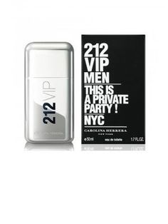 """212 VIP This Is A Private Party FOR MEN by Carolina Herrera - 1.7 oz EDT Spray by Carolina Herrera. $69.49. This fragrance is 100% original.. 212 VIP This Is A Private Party is recommended for daytime or casual use. After the female version from 2010, Carolina Herrera presents the 212 VIP masculine edition. 212 VIP Men is run by the same slogans. """"Are you on the list?"""" and """"This is a private party."""" The fragrance reflects the style and attitude of the New York party elite, descri..."""