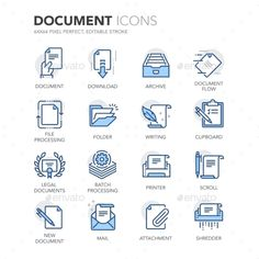 Blue Line Documents Icons. Download here: http://graphicriver.net/item/blue-line-documents-icons/16010885?ref=ksioks