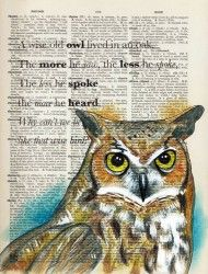 Quirky colourful mixed media illustrations, often repurposing old dictionaries and maps. Owl Art, Bird Art, Cycling Books, Old Book Art, Decoupage, Origami Bird, Illustration Techniques, Dictionary Art, Book Crafts