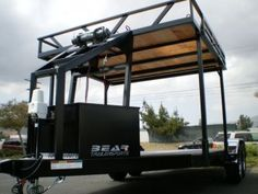 CA Custom Car Haulers & Trailers | Bear Trailersports Quad Trailer, Car Hauler Trailer, Trailer Plans, Utility Trailer, Trailers, Bend Tube, Tire Rack, Led Tail Lights, Garage Shop